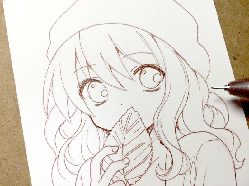 サインペンを使った お手軽水彩風イラストの描き方 もじゃクッキーcom